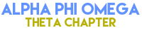 Alpha Phi Omega - Theta Chapter Logo